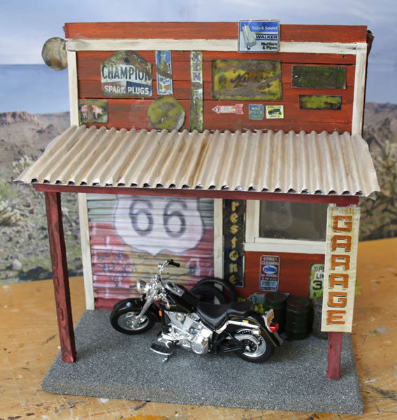 Old Garage On Route 66 - Scale 1/18 - Arte Povera - 5