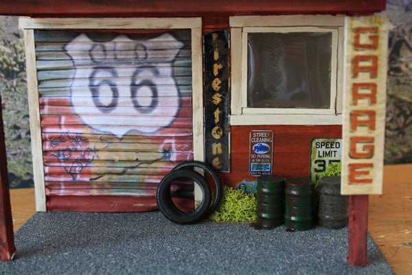 Old Garage On Route 66 - Scale 1/18 - Arte Povera - 2