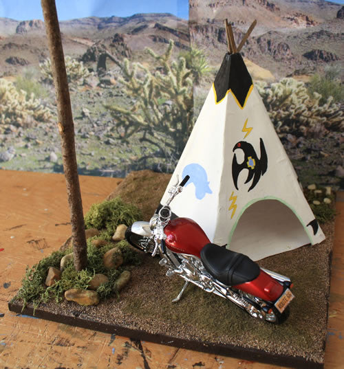 Geronimo Stop Arizona Route 66 - Scale 1/18 - Arte Povera - 1