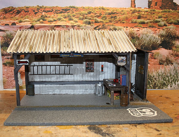 Harley Cycle Shop On Route 66 - Scale 1/18 - Arte Povera - 3