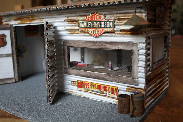 Harley Davidson Garage On Route 66 - Scale 1/18 - Arte Povera - 4