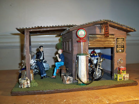 Harley Repair On Route 66 - Scale 1/18 - Arte Povera - 1