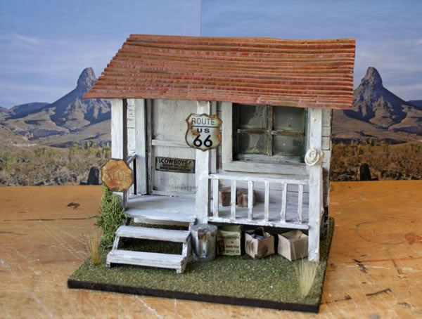 Harley Stop On Route 66 - Scale 1/18 - Arte Povera - 2