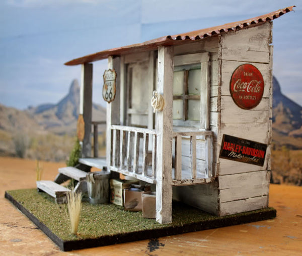 Harley Stop On Route 66 - Scale 1/18 - Arte Povera - 3
