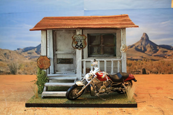 Harley Stop On Route 66 - Scale 1/18 - Arte Povera - 4
