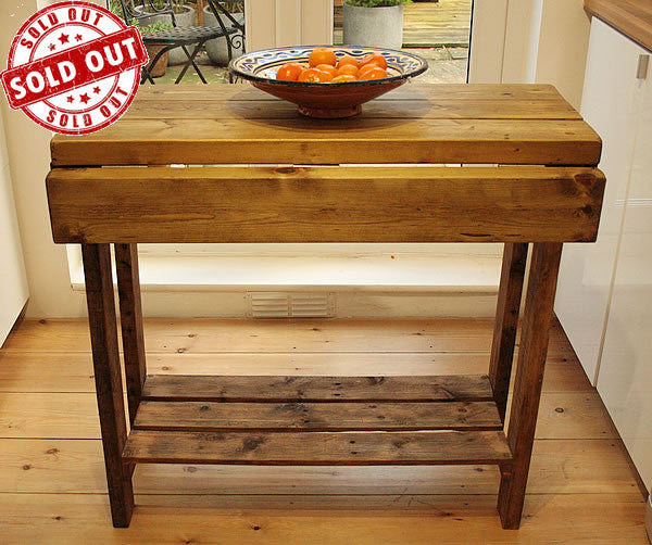 Kitchen Island Breakfast Bar Made With Reclaimed Timber And Pallet Wood - Arte Povera - 1