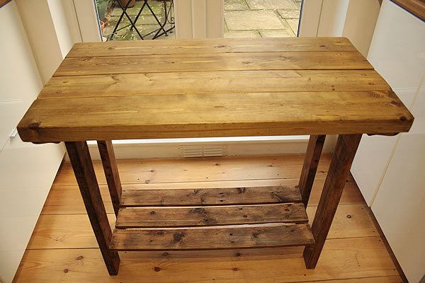 Kitchen Island Breakfast Bar Made With Reclaimed Timber And Pallet Wood - Arte Povera - 4