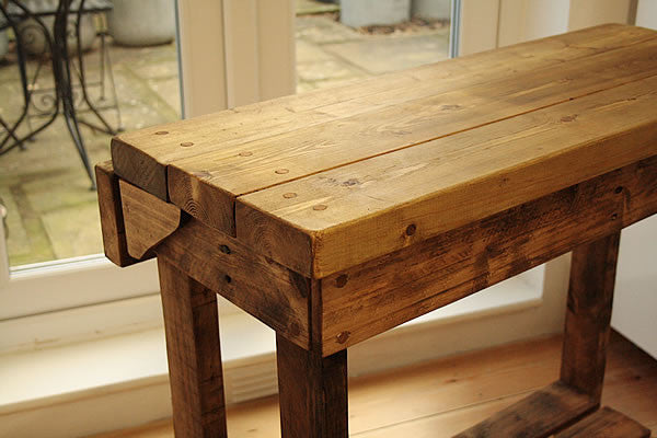 Kitchen Island Breakfast Bar Made With Reclaimed Timber And Pallet Wood - Arte Povera - 5