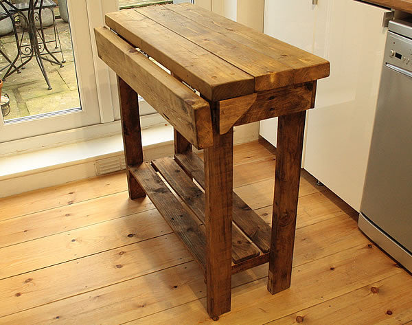 Kitchen Island Breakfast Bar Made With Reclaimed Timber And Pallet Wood - Arte Povera - 6