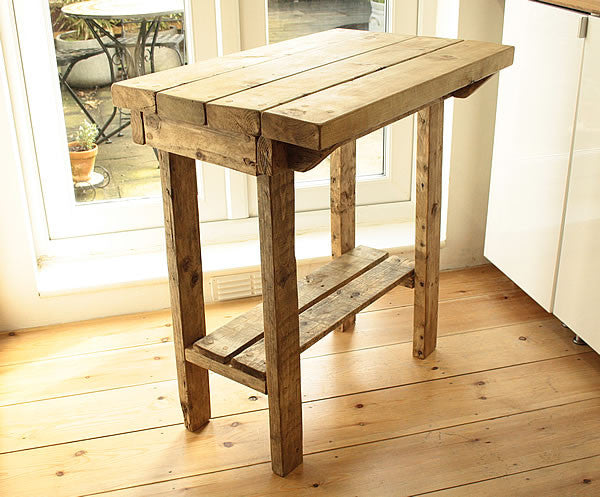 Kitchen Island Breakfast Bar Made With Reclaimed Timber And Pallet Wood