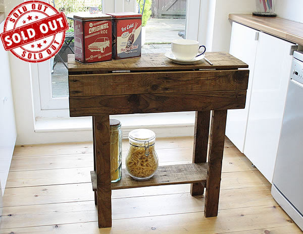 Kitchen Table Island Breakfast Bar Made With Pallet Wood - Arte Povera - 1