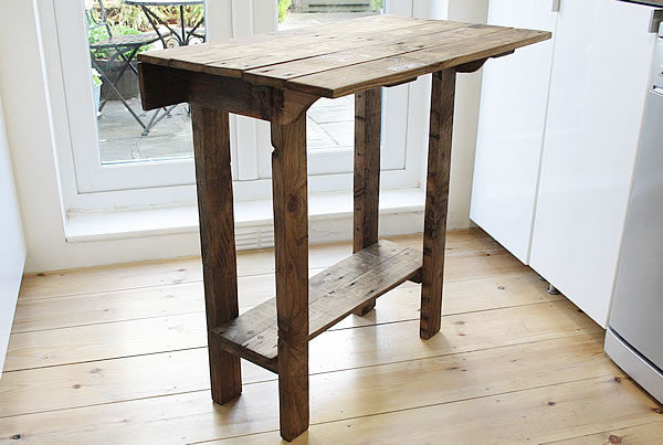 Kitchen Table Island Breakfast Bar Made With Pallet Wood - Arte Povera - 2