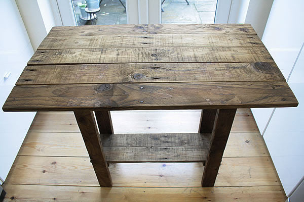Kitchen Table Island Breakfast Bar Made With Pallet Wood - Arte Povera - 3