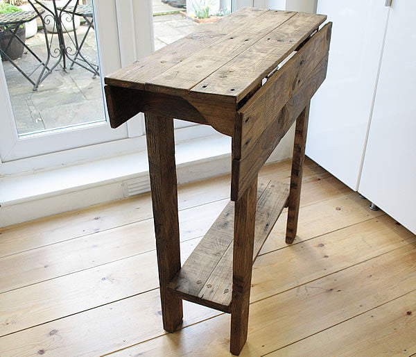 Kitchen Table Island Breakfast Bar Made With Pallet Wood - Arte Povera - 5