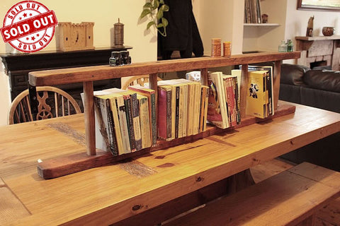 Bookshelves Made With 5 Steps Vintage Wooden Ladder