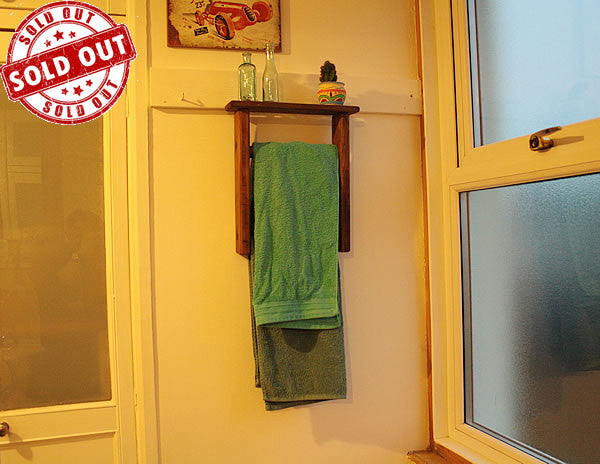 Towel Holder Made With Vintage Ladder - Arte Povera - 1