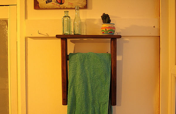 Towel Holder Made With Vintage Ladder - Arte Povera - 4