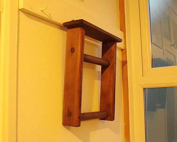 Towel Holder Made With Vintage Ladder