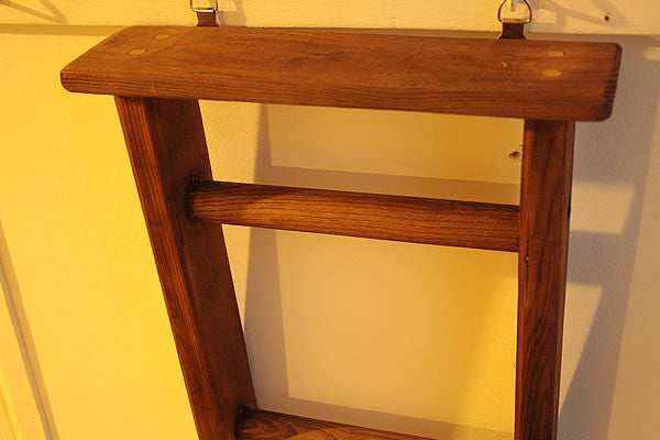 Towel Holder Made With Vintage Ladder - Arte Povera - 2