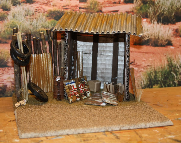 Old Shed On Route 66 Diorama - Scale 1/18