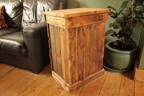Rustic Chest Of Drawers Handmade With Pallet Wood And Vintage Butcher Chopping Board - Arte Povera - 5