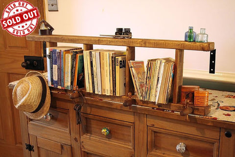Ladder Bookshelves Made With Pallet Wood And Vintage Barrel Taps