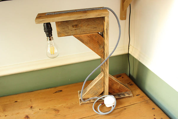 Desk Lamp Made With Pallet Wood