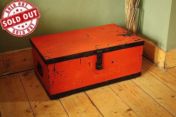 Coffee Table Wooden Trunk Vintage Restored - Arte Povera - 1