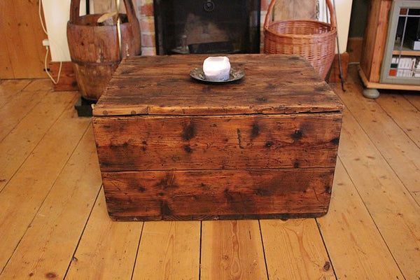 Vintage Trunk/Chest Coffee Table Restored - Arte Povera - 2
