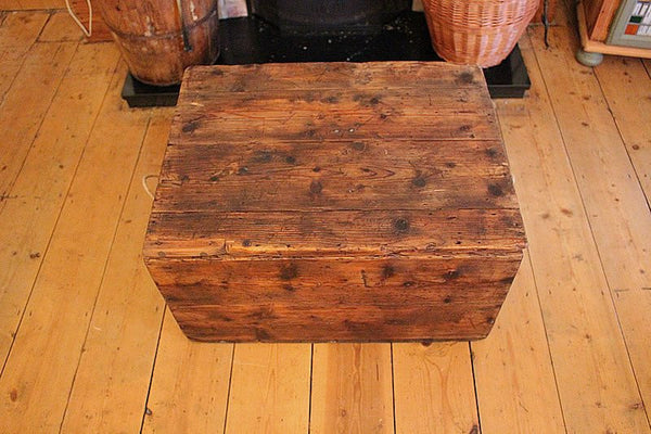 Vintage Trunk/Chest Coffee Table Restored - Arte Povera - 4