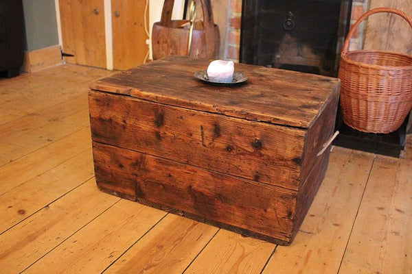 Vintage Trunk/Chest Coffee Table Restored - Arte Povera - 6