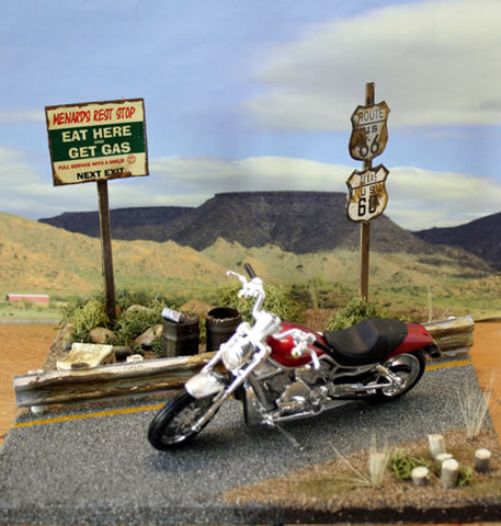 Route 66 Texas Diorama - Scale 1/18