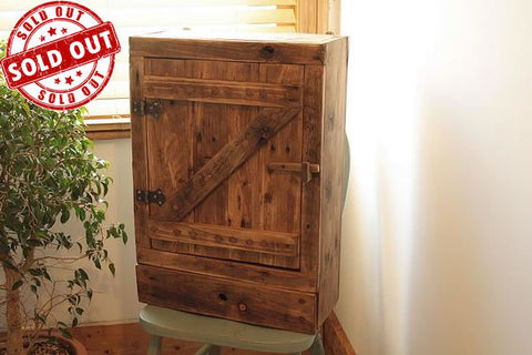 Rustic Wall Cabinet Made With Reclaimed Timber And Pallet Wood
