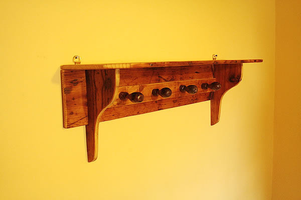Shaker Style Coat Hanger Made With Reclaimed Timber And Vintage Chisel Handles - Arte Povera - 3