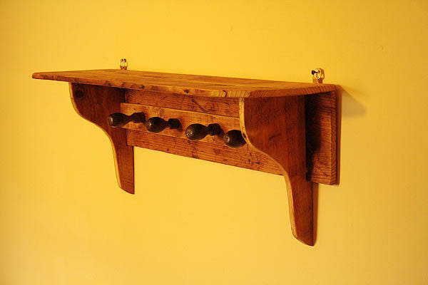 Shaker Style Coat Hanger Made With Reclaimed Timber And Vintage Chisel Handles - Arte Povera - 4