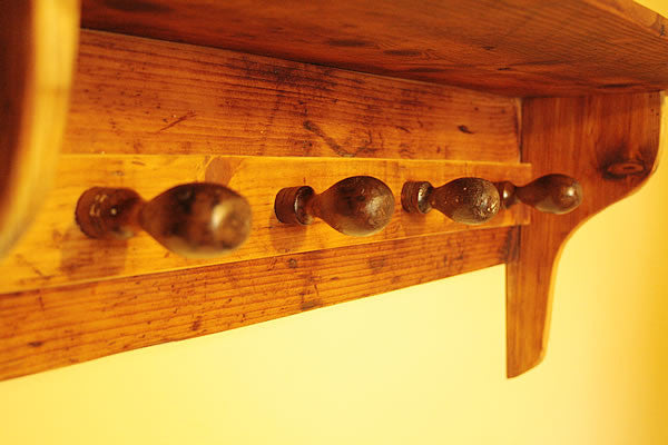 Shaker Style Coat Hanger Made With Reclaimed Timber And Vintage Chisel Handles - Arte Povera - 2