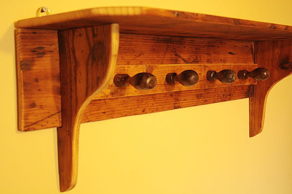 Shaker Style Coat Hanger Made With Reclaimed Timber And Vintage Chisel Handles - Arte Povera - 5
