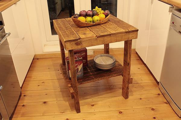 Small Table With Shelf Kitchen Lounge Desk Made With Pallet Wood