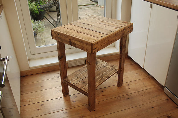 Small Table With Shelf Kitchen Bathroom Lounge Made With Pallet Wood