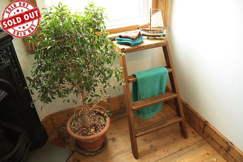 Side Table Made With Upcycled Vintage Step Ladder - Arte Povera - 1