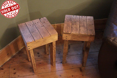 Stools Side Tables Bedside Tables Made With Pallet Wood - Arte Povera - 1