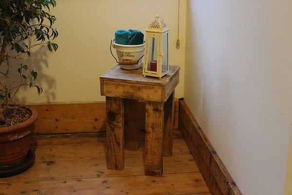 Stools Side Tables Bedside Tables Made With Pallet Wood - Arte Povera - 6