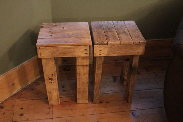 Stools Side Tables Bedside Tables Made With Pallet Wood - Arte Povera - 3