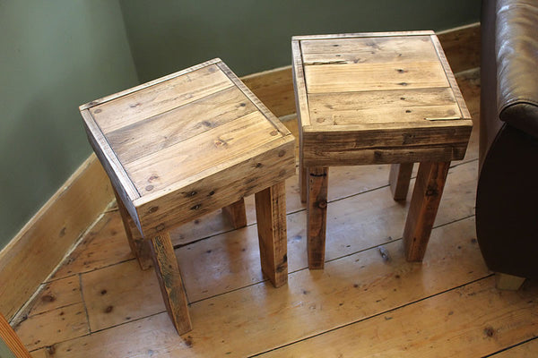 Stools Side Tables Bedside Tables Made With Pallet Wood