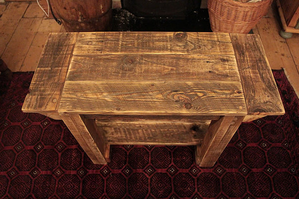TV Stand Alcove Bench Coffee Table Made With Pallet Wood - Arte Povera - 5