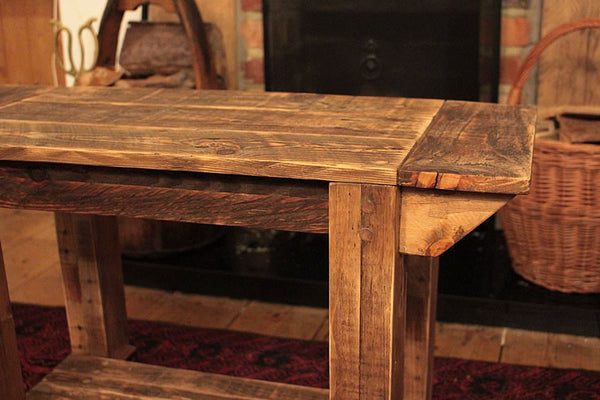 TV Stand Alcove Bench Coffee Table Made With Pallet Wood - Arte Povera - 6