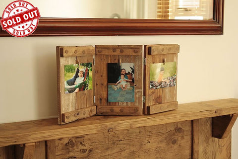 Tri Fold Picture Frame Made With Pallet Wood