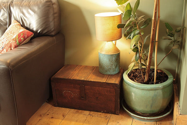 Vintage Wooden Trunk Box Side Table Restored - Arte Povera - 2