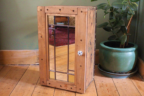 Floor Cabinet Made With 1939 Vintage Trunk - Upcycled - Arte Povera - 1
