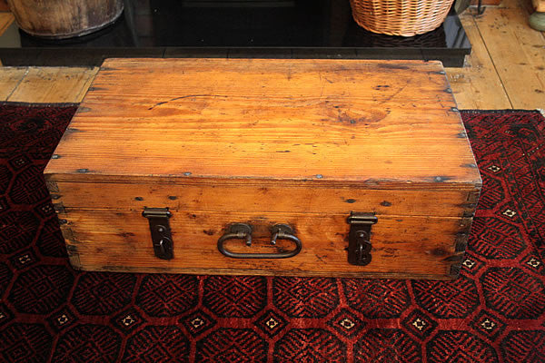Vintage Trunk Wooden Box/Suitcase Restored